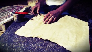 Bag making - fabric lining for leather bags