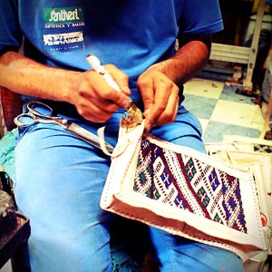 Bag making by hand